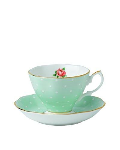 Royal Albert Polka Rose Teacup & Saucer Set