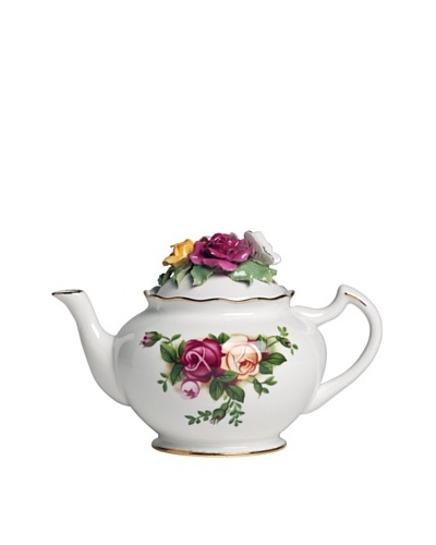 Royal Albert Old Country Roses Bouquet 42-Oz. Teapot
