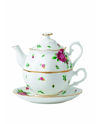 Royal Albert New Country Roses White Tea for One