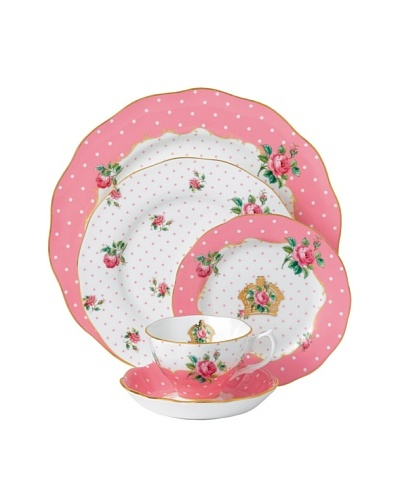 Royal Albert Cheeky Pink 5-Piece Place Setting