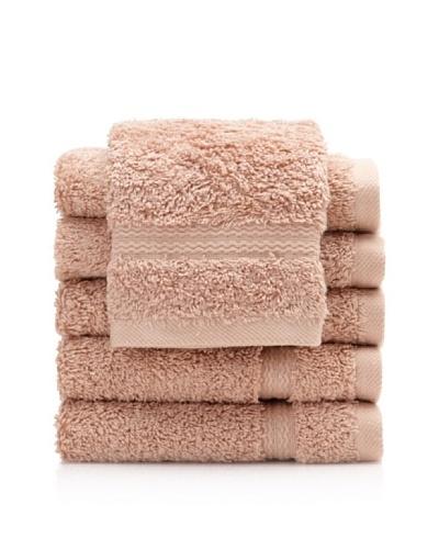 Royal Ascot by Chortex Set of 6 Wash Cloths, Beige