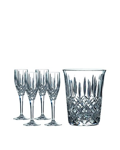 Royal Doulton Set of 4 Champagne Flutes & Ice Bucket