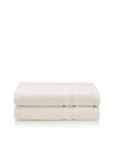Royalty by Victoria House 2-Piece Bath Sheet Set, Cream