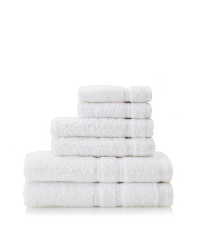 Royalty by Victoria House 6-Piece Bath Towel Set, White