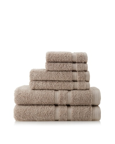Royalty by Victoria House 6-Piece Bath Towel Set, Flax