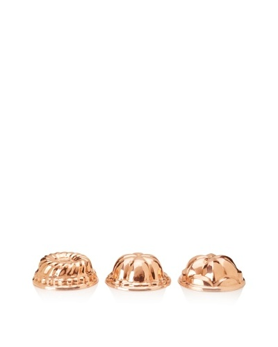 Ruffoni Stampi Collection Copper 3-Piece Round Mold SetAs You See