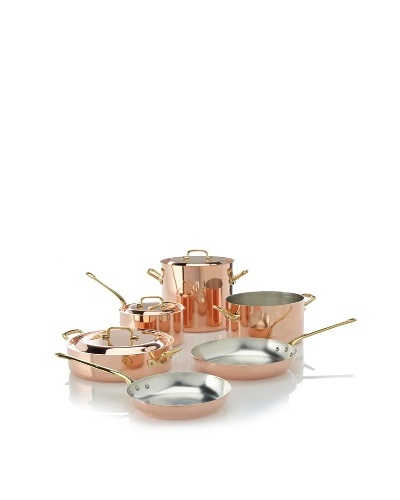 Ruffoni Protagonista 9-Piece Copper Cookware Set in Wooden Box