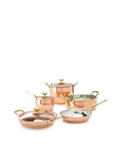 Ruffoni Historia Decor 8-Piece Copper Cookware Set in Wooden Box