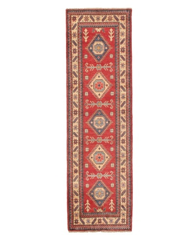 Rug Republic One Of A Kind Pakistani Kazak Rug, Red/Blue/Antique Ivory/Multi, 2' 8 x 9' 6 RunnerAs...