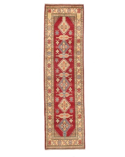 "Rug Republic One Of A Kind Pakistani Kazak Rug, Red/Blue/Antique Ivory/Multi, 2' 1 x 10' 4"" Run..."