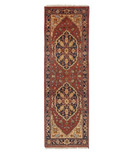 Rug Republic One Of A Kind Indo-Serapi Hand Knotted Rug, Antique Red/Multi, 2' 6 x 7' 1As You See