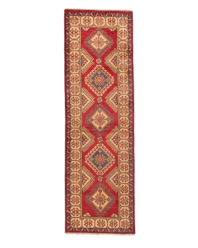 Rug Republic One Of A Kind Pakistani Kazak Rug, Red/Blue/Antique Ivory/Multi, 2' 1 x 9' 4 RunnerAs ...