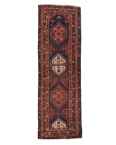 """Rug Republic One Of A Kind Unique Vintage Persian Village Rug, Multi, 3' 7"""" x 10' 9""""As You..."""