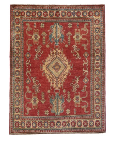 Rug Republic One Of A Kind Pakistani Kazak Rug, Red/Blue/Antique Ivory/Multi, 4' x 5' 4As You See