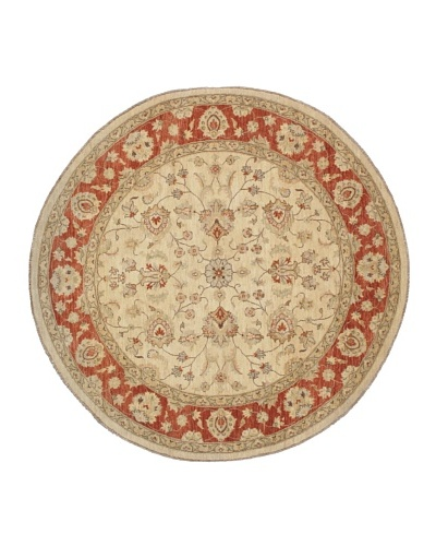 Rug Republic One Of A Kind Hand Knotted-Chobi Rug, Neutral/Rust/Multi, 8' 2 x 8' RoundAs You See