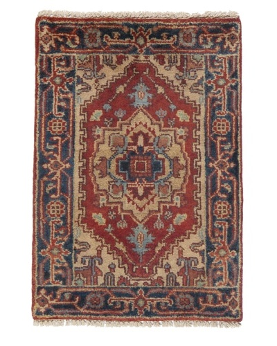 "Rug Republic One Of A Kind Indo-Serapi Hand Knotted Rug, Antique Red/Multi, 2' 3"" x 3' 2""A..."