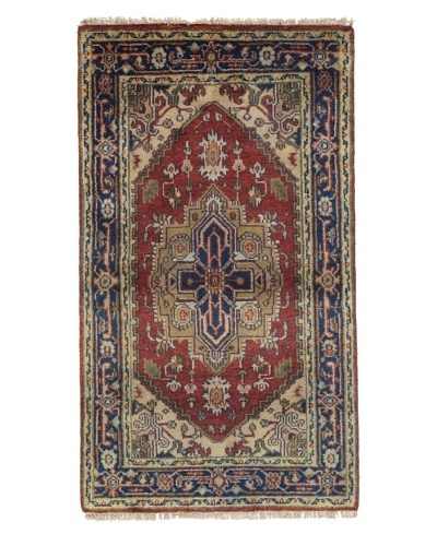 Rug Republic One Of A Kind Indo-Serapi Hand Knotted Rug, Antique Red/Multi, 2' 11 x 5' 2As You See