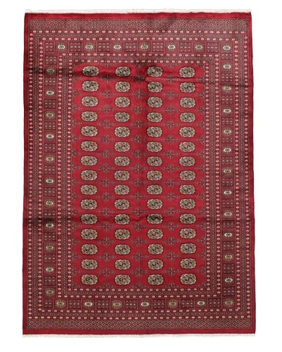 Rug Republic One Of A Kind Bokhara Hand Knotted Rug, Bokhara Red/Multi, 6' 2 x 8' 1As You See