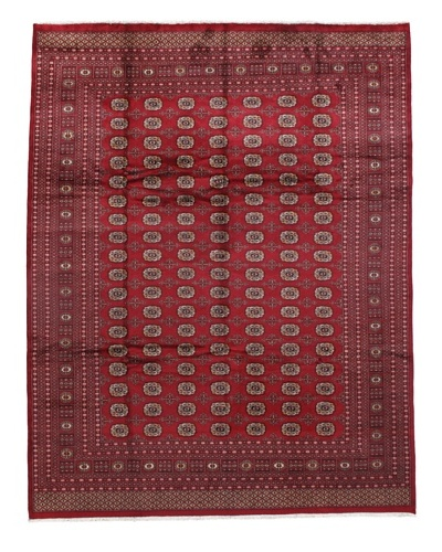 Rug Republic One Of A Kind Bokhara Hand Knotted Rug, Bokhara Red/Multi, 9' 2 x 11' 9As You See