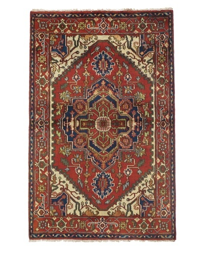 Rug Republic One Of A Kind Indo-Serapi Hand Knotted Rug, Antique Red/Multi, 3' 11 x 6' 1As You See