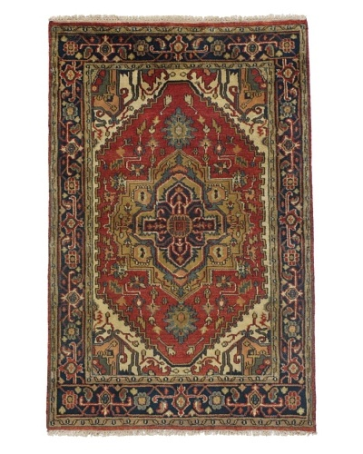"Rug Republic One Of A Kind Indo-Serapi Hand Knotted Rug, Antique Red/Multi, 3' 11"" x 6'As You S..."