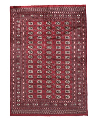 Rug Republic One Of A Kind Bokhara Hand Knotted Rug, Bokhara Red/Multi, 6' x 8' 1As You See