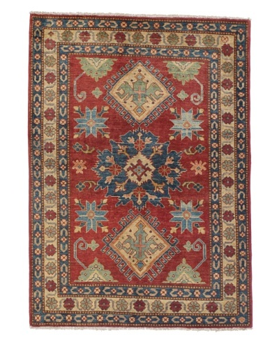 Rug Republic One Of A Kind Pakistani Kazak Rug, Red/Blue/Antique Ivory/Multi, 4' 2 x 5' 1As You See