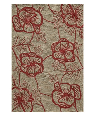 Rug Republic Floral Hand Hook Rug
