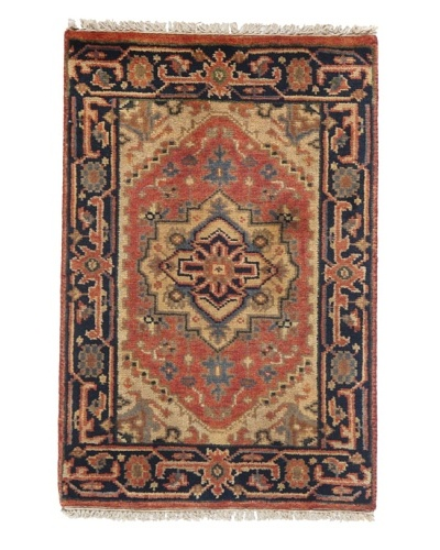 Rug Republic One Of A Kind Indo-Serapi Hand Knotted Rug, Antique Red/Multi, 2' x 3'As You See