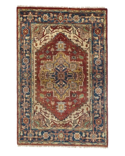 Rug Republic One Of A Kind Bokhara Hand Knotted Rug, Bokhara Red/Multi, 8' 2 x 9' 11
