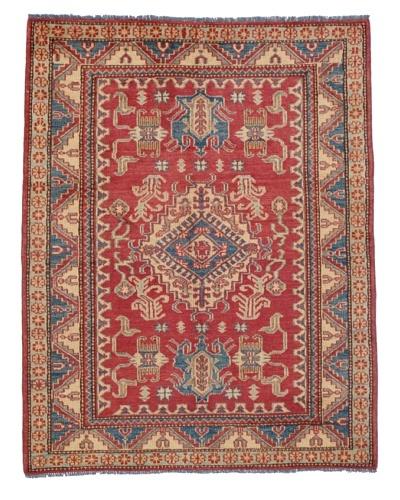 "Rug Republic One Of A Kind Pakistani Kazak Rug, Red/Blue/Antique Ivory/Multi, 4' 3"" x 5' 5&quot..."