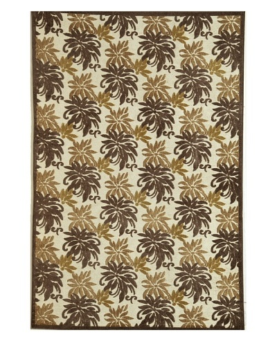 Rugs America Salerno Chenille Palms [Palms Chocolate]