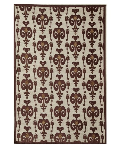 Rugs America Salerno Chenille Ikat [Ikat Red]