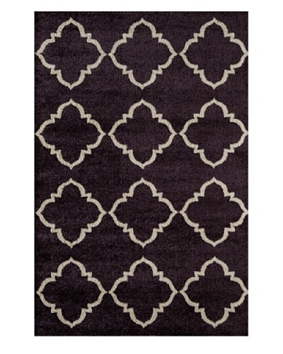 Rugs America Hudson Plush Rug [Plum Lattice]