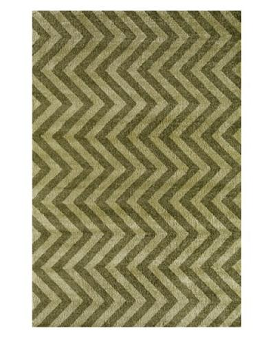Rugs America Hudson Plush Rug [Green Linen]