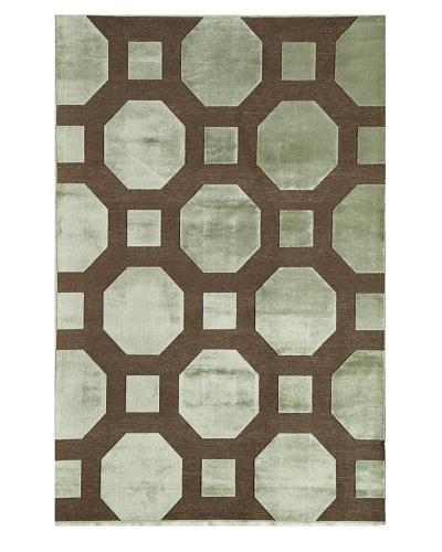 Rugs America Salerno Chenille Maze [Maze Light Blue]