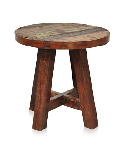 Verde Collection Kirra Round Side Table, Earth
