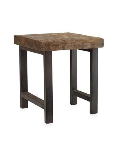 Classic Home Jaden Iron Leg End Table, Natural/Iron