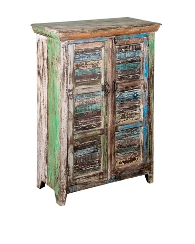 Coast to Coast Large Double-Door Reclaimed Wood Cabinet, Multi
