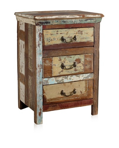 Classic Home Vintage 3-Drawer Night Stand, Multi