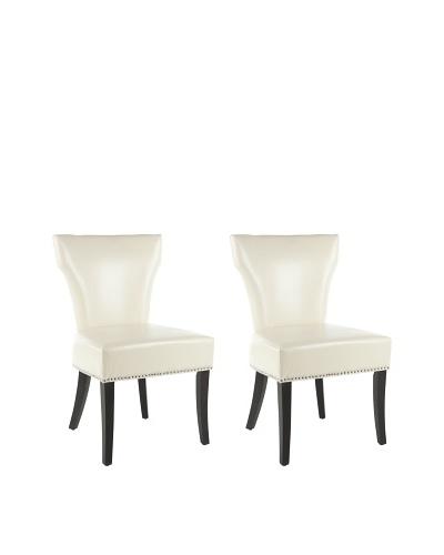 Safavieh Set of 2 Jappic Side Chairs, Flat Cream
