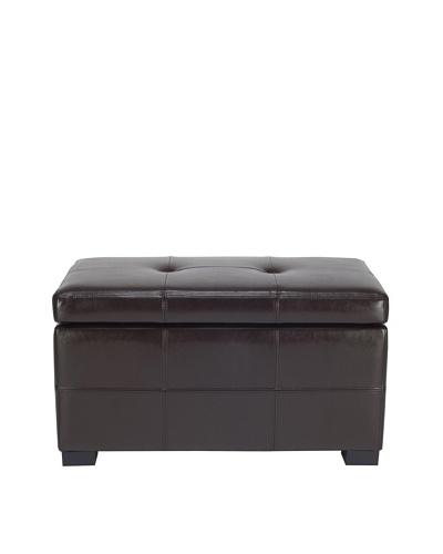 Safavieh Small Maiden Tufted Storage Bench, Brown