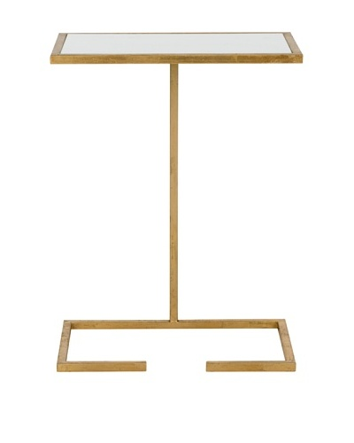 Safavieh Neil Accent Table, Gold/White Glass Top