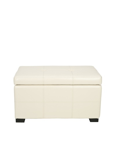 Safavieh Small Maiden Tufted Storage Bench, Flat Cream