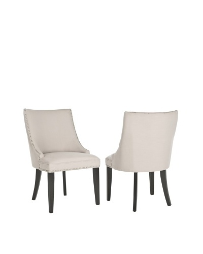 Safavieh Set of 2 Afton Side Chairs, Taupe