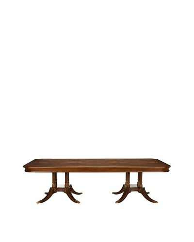 Safavieh Fruitwood Fixed Dining Table, Mahogany