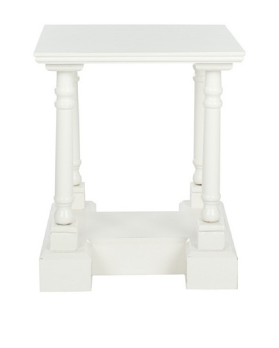 Safavieh Endora End Table, Distressed Cream
