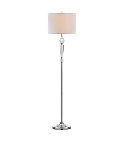 Safavieh Savannah Floor Lamp, Clear with White Shade