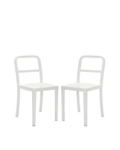 Safavieh Set of 2 Kastra Side Chairs, White