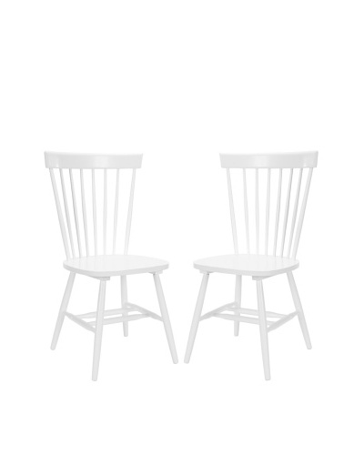 Safavieh Set of 2 American Home Collection Bristol Spindle Side Chairs, White